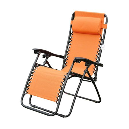 Outsunny Zero Gravity Recliner Lounge Patio Pool Chair Orange