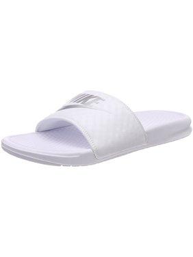100cb0b55e371a Product Image Nike Womens Benassi JDI White Metallic Silver Sandal 7 Women  US