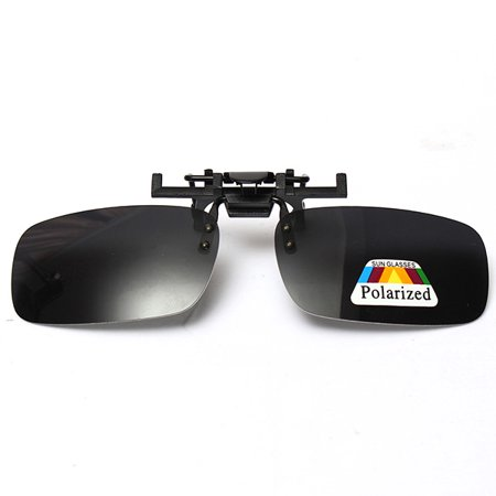 b60324240daf4d Drillpro - Gray Grey UV400 Lenses Polarized Flip Up Clip On Sunglasses  Driving Outdoor Sports Night Glasses - Walmart.com