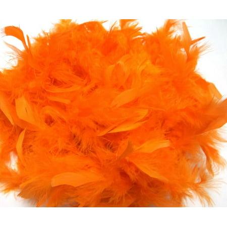 Bright Orange Chandelle Feather Boa 72