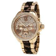 Michael Kors Women's Wren Two-Tone Rose Gold and Acetate Watch MK6159