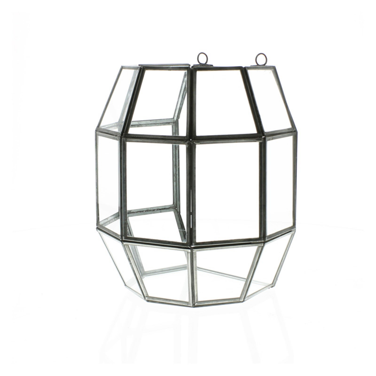 Areo Home Pierre Leaded Glass Rhombus Cube Terrarium
