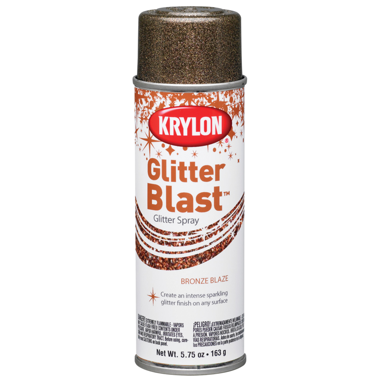 Krylon Glitter Blast Glitter Spray Paint 5 7 Oz Bronze Blaze Spray Walmart Com Walmart Com