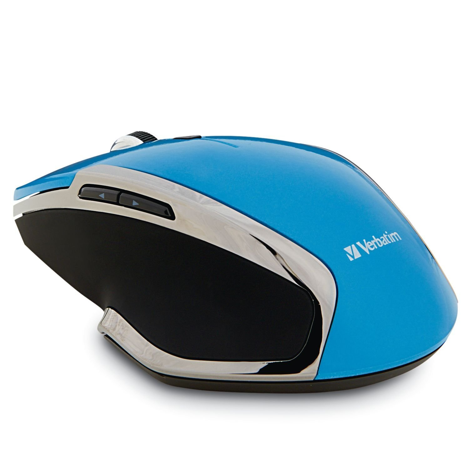 Usb Wireless Mouse, Blue 6-button Portable Led Ergonomic 2.4ghz Gaming Mouse