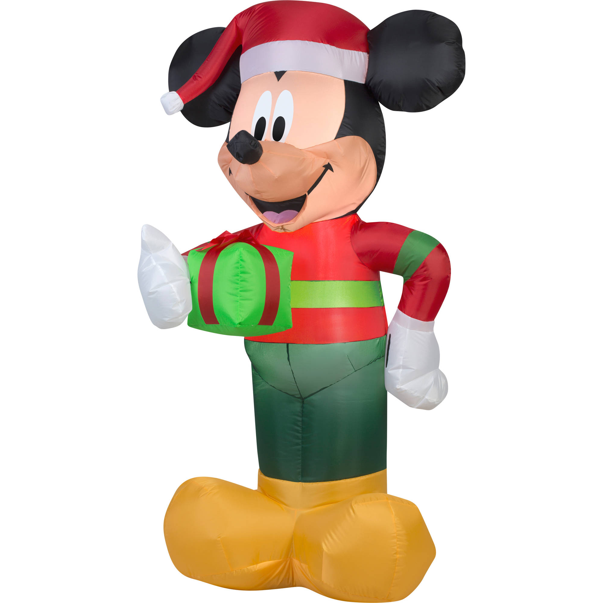 gemmy airblown christmas inflatables disney mickey with present 5 walmartcom