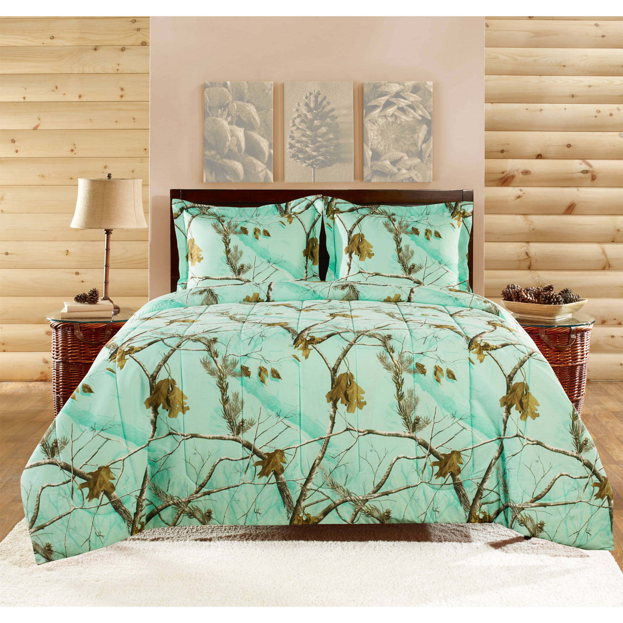 Realtree Brights Bedding forter Set Walmart