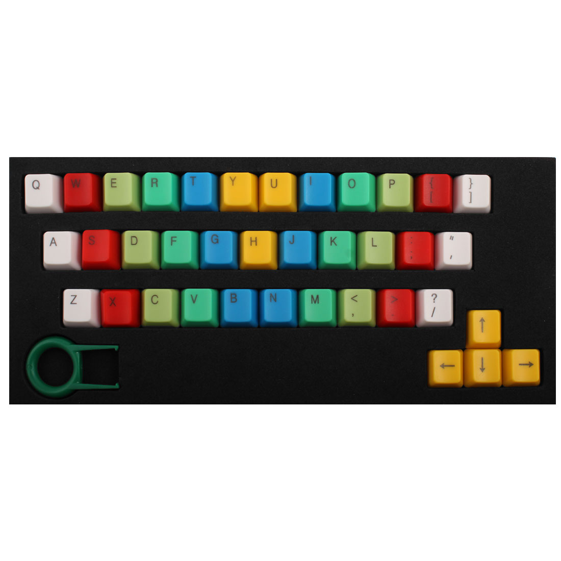 ABS 37 Keys Backlight Rainbow Keycaps Yellow for Mechanical Keyboard
