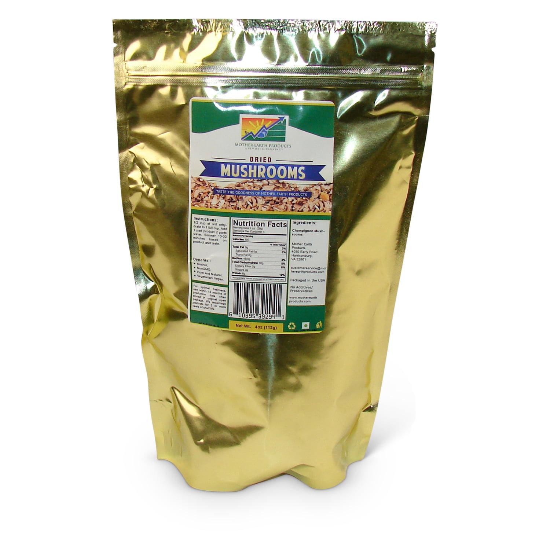 Dehydrated Mushrooms, 1 full quart Mylar Bag