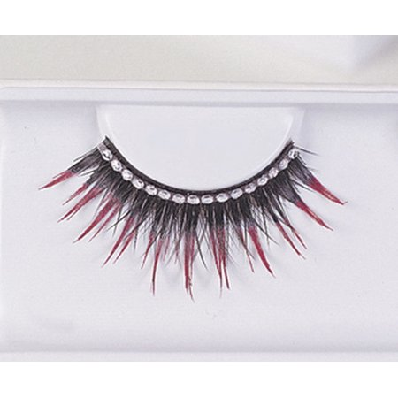 EYELASHES BLK WITH RED RHINEST