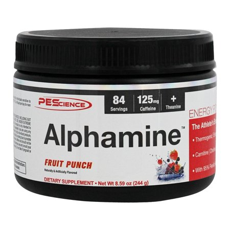 PEScience - Alphamine Energy poudre Fruit Punch - 8,59 onces.