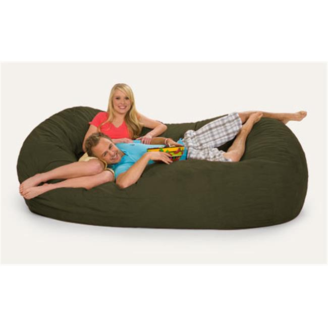 RelaxSacks 7OV-MS009 7. 5 ft.  RelaxSack Lounger - Microsuede Camel