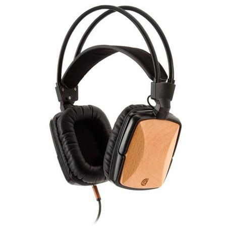Griffin WoodTones Over-Ear Headphones with In-Line Microphone - Beech Wood