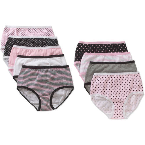 Faded Glory Girls' Days Of The Week Brief Panty 9 Pack