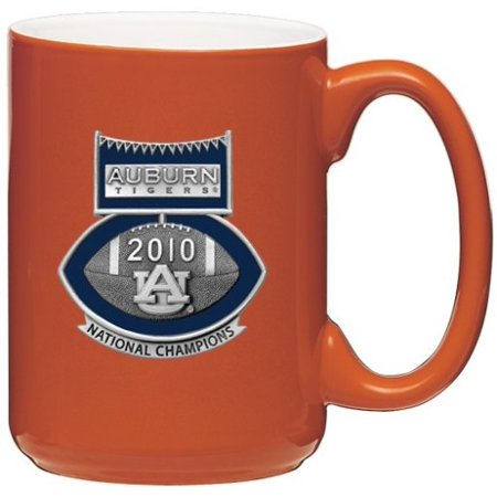 - Auburn Tigers 2010 BCS National Champions Football Logo Orange Coffee Mug Set