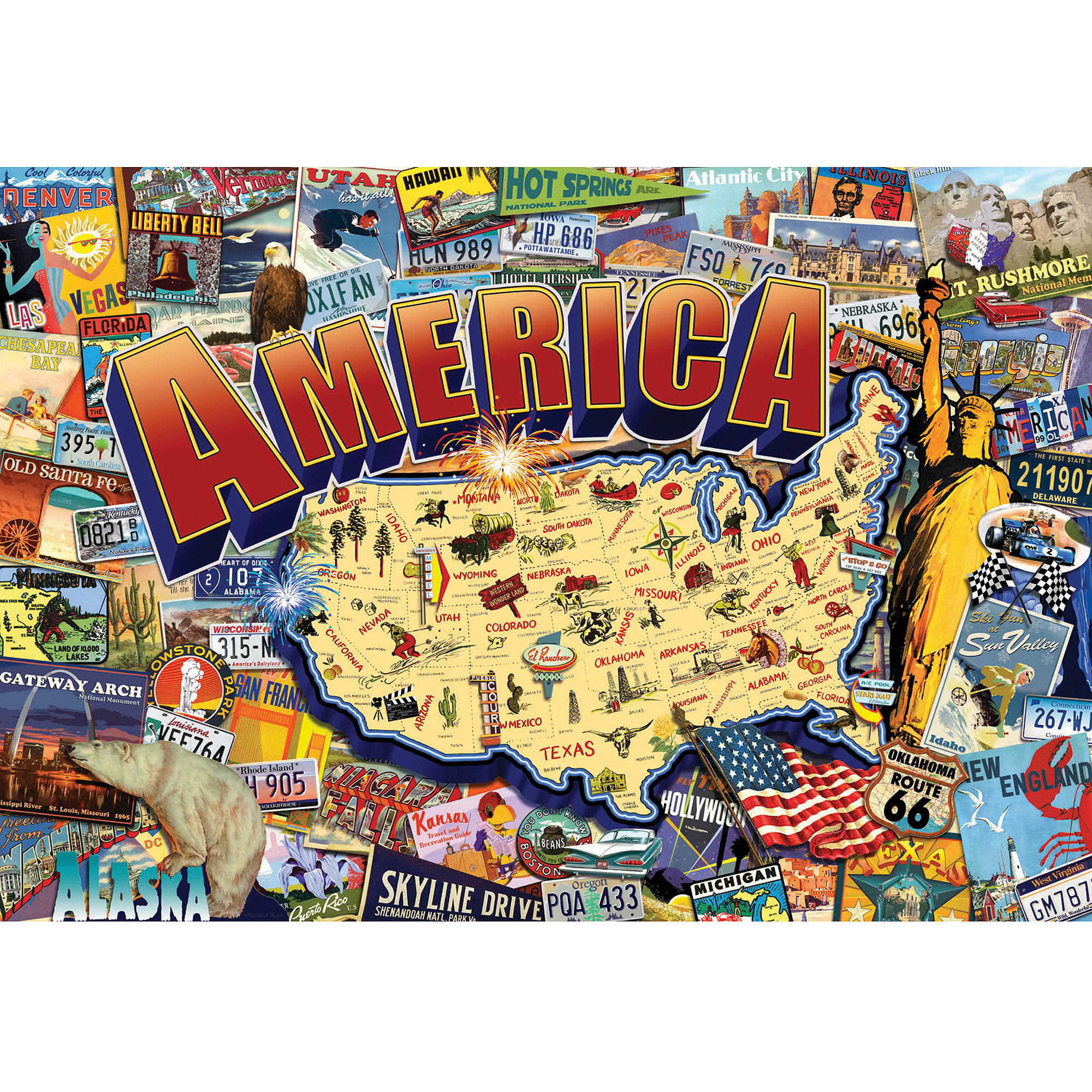 Buffalo Games Vintage America Jigsaw Puzzle, 2,000 Pieces