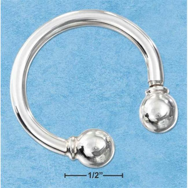 Sterling Silver Horseshoe Key Chain with 8mm Removable Ball End