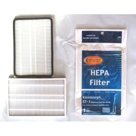 2  Kenmore Sears Ef 1 Pleated Vacuum Hepa Filter W Activated Charcoal  86899 Progressive Vacuum Cleanser  C368kcnp1  40