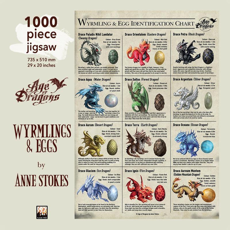 1000-Piece Jigsaws: Anne Stokes: Wyrmling & Egg Jigsaw: 1000 Piece Jigsaw Puzzle (Hardcover)