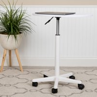 Flash Furniture White Sit to Stand Mobile Laptop Computer Desk