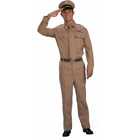 1940s WWII Military Officer Army General Costume - Party City Army Costume