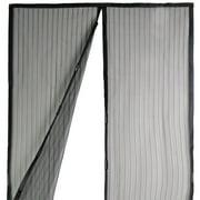 "Magnetic Mesh Screen Door Instant Magic Mesh Curtain Closer for 82.7""x39.4"" w/ Heavy Duty Mesh"