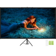 VEVOR Tripod Projector Screen with Stand 60 inch 16:9 4K HD Projection Screen Stand Wrinkle-Free Height Adjustable Portable Screen for Projector Indoor & Outdoor for Movie, Home Cinema, Gaming, Office
