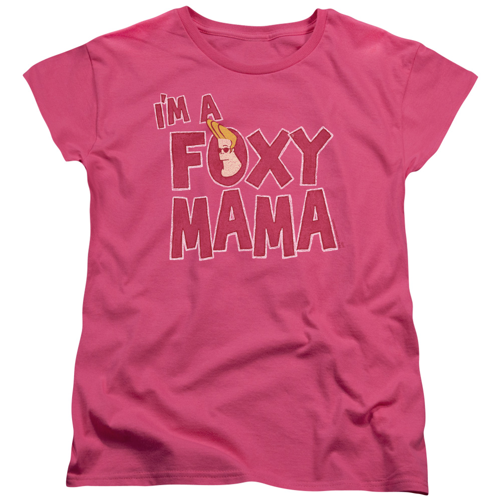 Johnny Bravo Foxy Mama Womens Short Sleeve Shirt