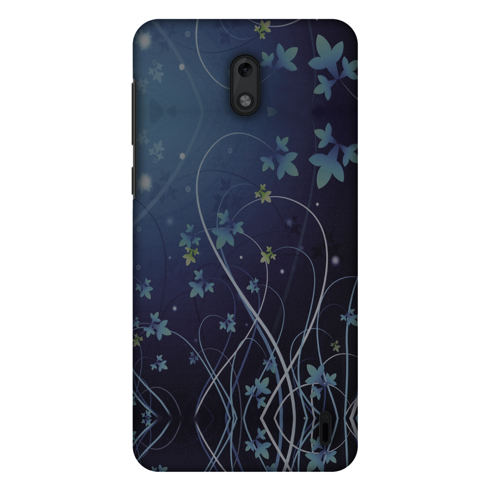 Nokia 2 Case - Midnight Lily, Hard Plastic Back Cover. Slim Profile Cute Printed Designer Snap on Case with Screen Cleaning Kit
