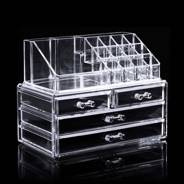 makeup organizer drawers walmart. the worth buy 4 drawers cosmetic organizer clear acrylic makeup case storage holder box pagacat walmart e