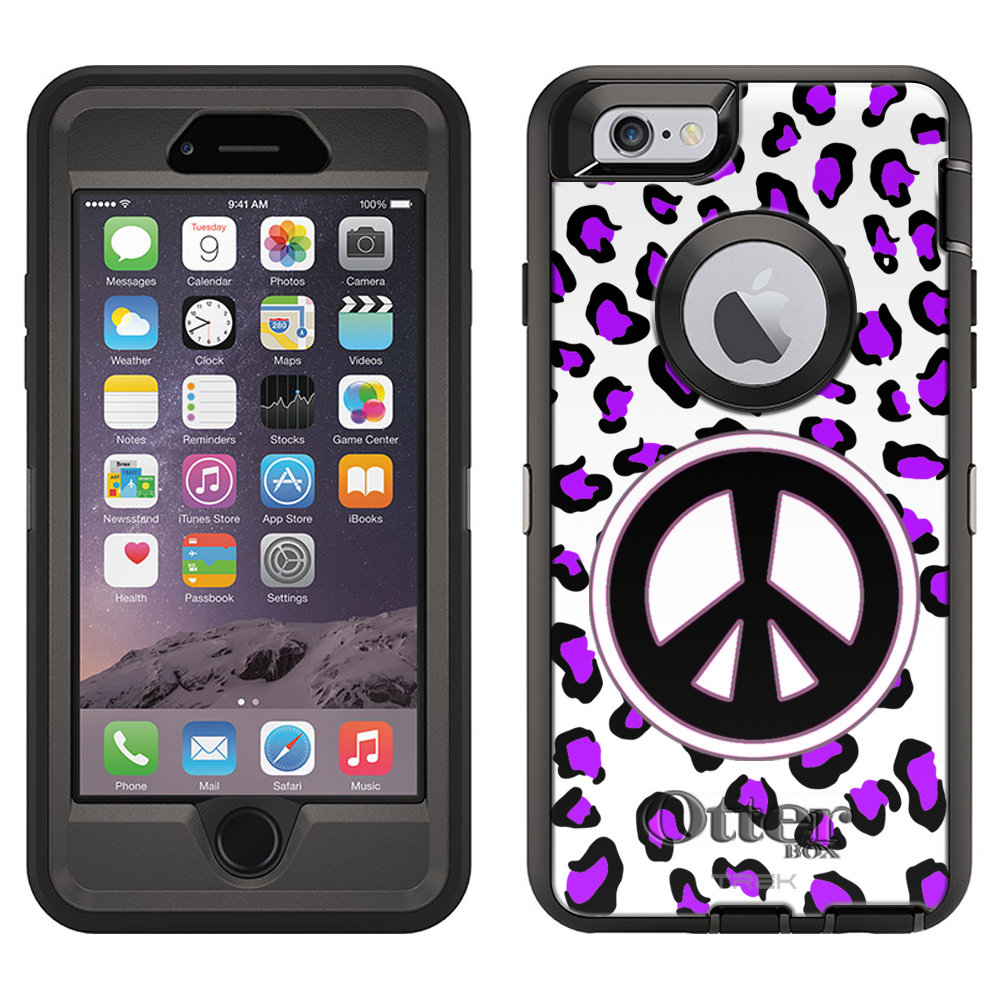 OtterBox Defender Case for Apple iPhone 6 - Peace Purple Leopard