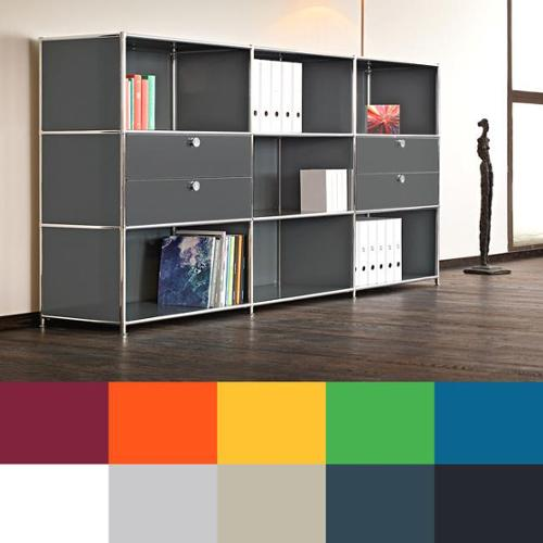 System4 Prestigious Elite Steel Side Board/ TV Media Stand/ Office Filing Credenza Anthracite