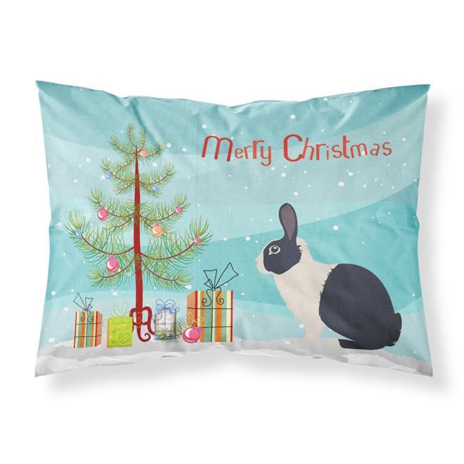Carolines Treasures BB9325PILLOWCASE Dutch Rabbit Christmas Fabric Standard Pillowcase - image 1 de 1