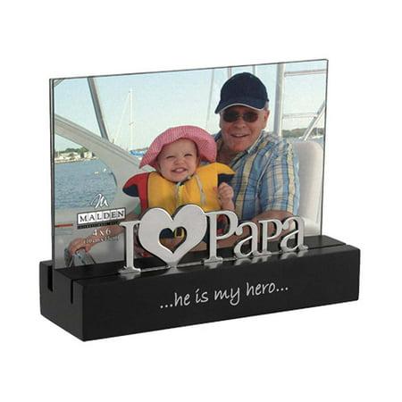 Malden I Love Papa Desktop Expressions 4x6 Frame (4x6 Table Top Picture Frames)
