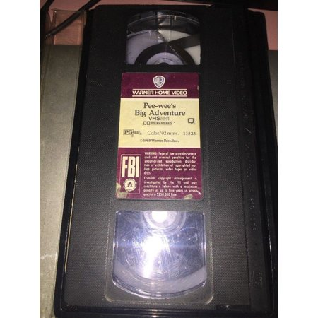 PEE-WEE'S BIG ADVENTURE ~ Pee-wee Herman ~ VHS Video Tape Rare (Rare Vhs Tapes)