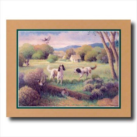 Dogs Hunting Birds Quail Wall Picture Art Print