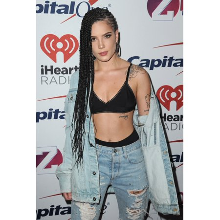 Halsey At Arrivals For Z100S Jingle Ball 2017 Presented By Capital One Madison Square Garden New York Ny December 8 2017 Photo By Kristin CallahanEverett Collection Celebrity (Halloween Celebrity Ideas 2017)