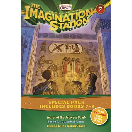 Imagination Station Books 3-Pack: Secret of the Prince's Tomb / Battle for Cannibal Island / Escape to the Hiding