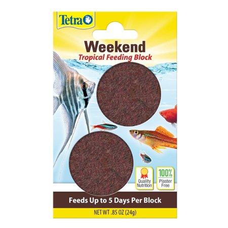 (2 Pack) Tetra Weekend Slow Release Tropical Feeding Block, 0.85 oz