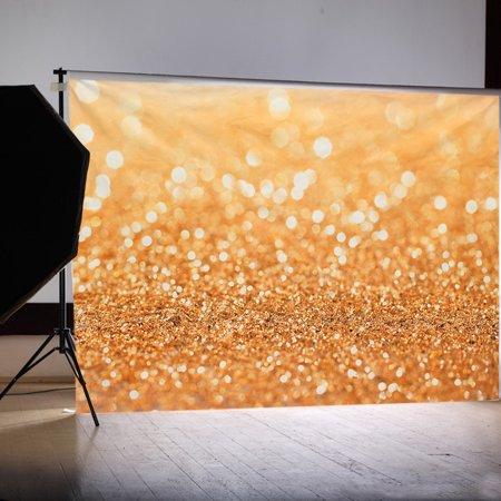 7x5FT Christmas Gold Glitter Spot Background Photography Backdrop Vinyl Fabric Photo Studio - Teal Glitter Background