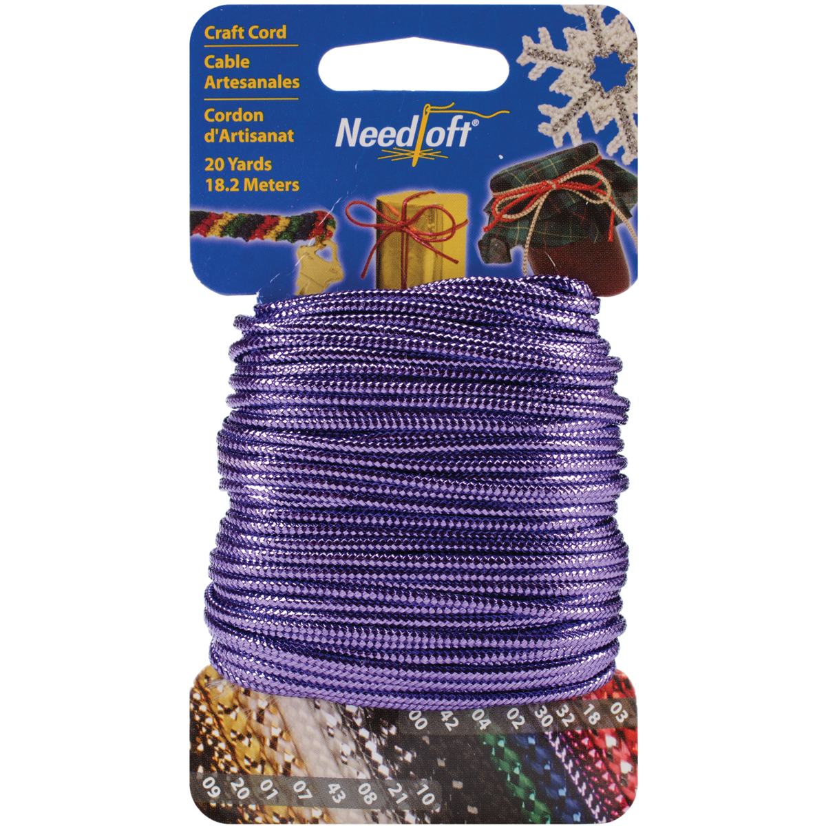 Cottage Mills Novelty Craft Cord 20yd-Solid Purple