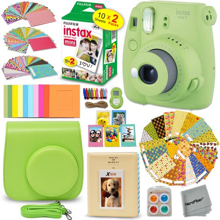 0ea15ce8a ... stickers + Fuji INSTAX Film (20 Sheets) + Custom Fitted Case + Instax  Album + Colorful Stickers + Fun Frames + 4 Colored Filters + MORE -  Walmart.com