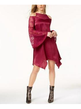 b6df3b090 Product Image The Edit By Seventeen Juniors Cold-Shoulder Dress Burgundy M