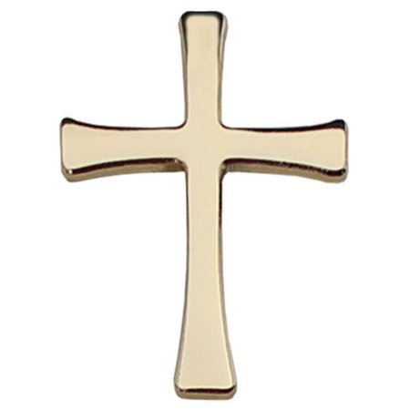 Cross Lapel Pin (Gold)