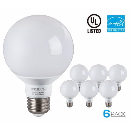 Vanity Light Bulbs Daylight : G25 Globe LED Light Bulb, 5W (40W Equiv.), ENERGY STAR, Damp Location Available, 5000K Daylight ...