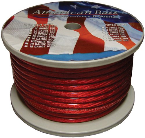 American Bass 8GR Red 8 Gauge Power Wire 100 Feet