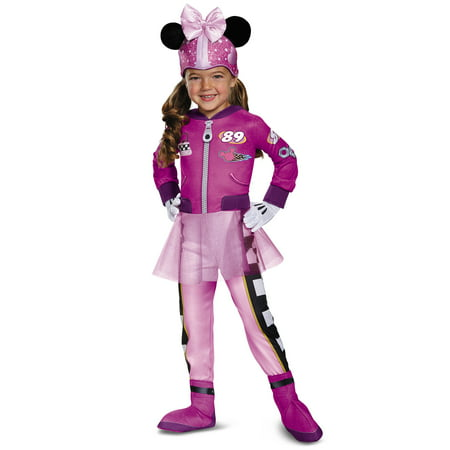 Disney Mickey Mouse Roadster Racers Minnie Mouse Deluxe Toddler Girls Costume (Adult Mickey And Minnie Costumes)