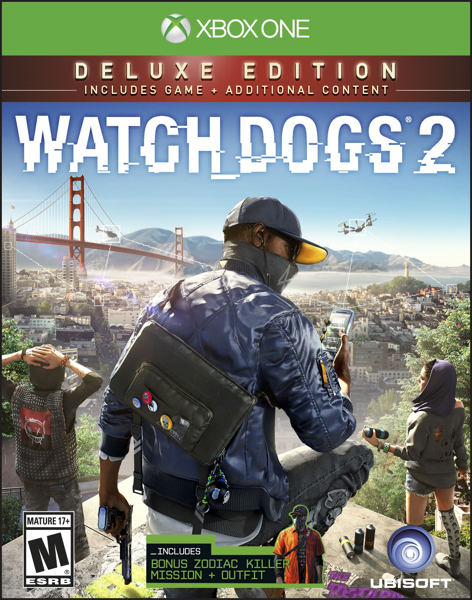Watch Dogs 2 Deluxe Edition (Xbox One) Ubisoft, 887256022822 by Ubisoft