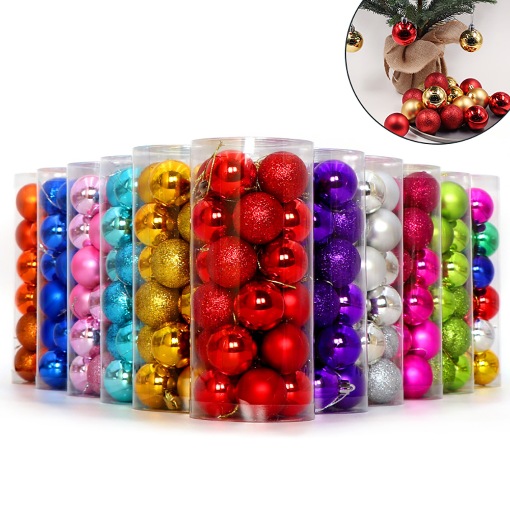Obstce Glittering Baubles Balls Christmas Tree Ornament Xmas Party Hanging Decoration