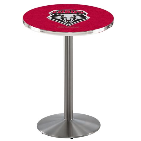 "L214 - 42"" Stainless Steel New Mexico Pub Table with 36"" dia. top by Holland Bar Stool Co."