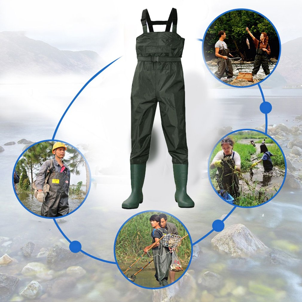 Waterproof Stocking Foot Comfortable Chest Wader For Outdoor Hunting Fishing by Musiccraz